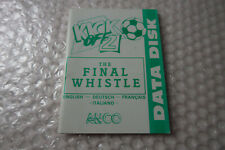 Amiga Game / Software Manual / Paperwork ~ Kick Off 2 Final Whistle