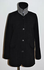 WOMENS JUNGE PADDED COAT JACKET WOOL CASHMERE DARK GREY LOOSE FIT SIZE GB 8 34