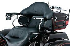 Kuryakyn 8959 Black Passenger Motorcycle Smooth Armrest 09-13 Harley Tri Glide