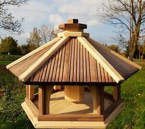 VOGELHAUS aus HOLZ  Vogelhäuschen Vogelhäuser Vogelfutterhaus / auch Ständer