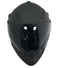 Viper Rx-v288 Double Visor Enduro Helmet Motocross MX Road Legal ACU Matt Black L