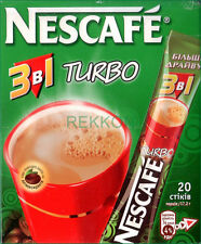 Nescafe Nestle TURBO 3 in 1 Instant Coffee Mix Box of 20 Sticks x 17.2g Tot 344g