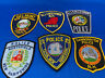 Various State Patches #36 Lot Of 6 Various Departments From United States