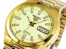 Seiko Mechanical (Automatic) Gold Plated Strap Wristwatches