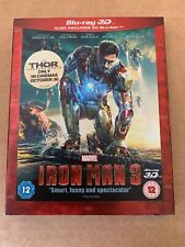 Iron Man 3 3D Blu Ray New & Sealed With Slipcase Marvel Avengers Rare OOP