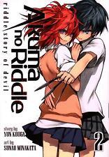 Akuma no Riddle  Volume 2  Yun Kouga  Sunao Minakata    Manga   Pbk  NEW