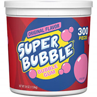 Super Bubble Gum, Assorted, 54 Ounce Tub 54 (Pack of 1)