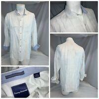 Tommy Bahama Button Shirt M Men White Linen Cotton LNWOT YGI D0-604