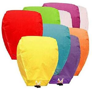 10/20/50/100pcs Paper Chinese Lanterns Assorted Colors For Wish Birthday Wedding