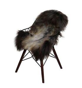 Lambskin Island Patched Sheepskin Deco Long Hair Rug Runner Real Fur Natural