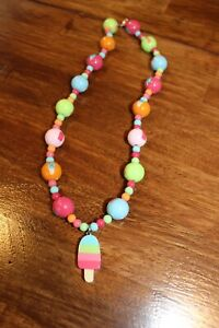 Gymboree Popsicle Party Necklace Girls Jewelry Summer Colorful