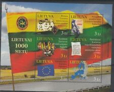 Lituania/Lithuania 2009 Foglietto Bf 39 Millenario Lituania 9 serie MNH