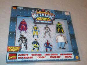 Marvel Metallic Comic Book Super Heroes DieCast Metal Action Figures Toy Biz