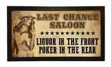 More details for last chance saloon funny liquor poker bar runner pub club cafe cocktail mat