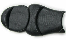 08-16-17 Hayabusa Custom Shaped & Covered Gator/Alligator Front/Rear Seat Seats