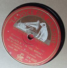 78 giri RPM La voce del padrone DB 2023 Ballata n 1 in sol minore op 23 Chopin