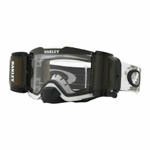 NEW OAKLEY FRONT LINE MX ROLL OFF GOGGLES MATTE WHITE SPEED WITH CLEAR LENS BIKE