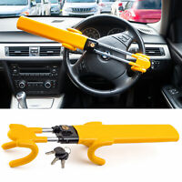 Twin Bar Steering Wheel Lock Stop Thieves Stealing Your Car Universal Fit 3 keys
