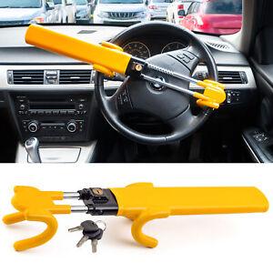 Twin Bar Steering Wheel Lock Stop Thieves Stealing Your Car Universal Fit 3 keys