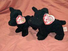 2 RARE TY Scottie Dog/ Beanie Babies PVC Pellets 1996 w/3 Tag Errors on both