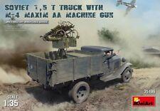 MINIART 35186 Soviet 1,5t Truck w/M-4 MAXIM AA Machinegun in 1:35