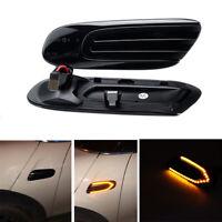1Pair Amber LED Side Marker Light Turn Signal for MINI Cooper F55 F56 F57 14-17