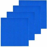 "4 Pcs Blue 10""x10"" building Baseplate 32x32 Base Plates Fits LEGO Classic Bricks"