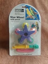 Vintage 1991 Penn Plax Bird Star Wheel with perch Unopened