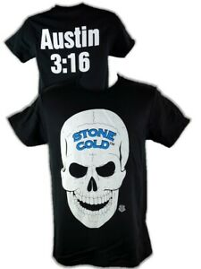 Stone Cold Steve Austin 3:16 Skull Legends Collection Mens Black T-shirt