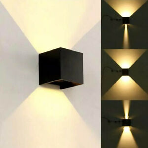 60W Waterproof LED Wall Lights Up/Down Modern Sconce Outdoor/Indoor Lamp IP65 UK