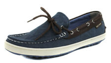 Cole Haan Men's Pinch Road Trip Camp Estate Blue Textile Boat Shoes Ret $130 New