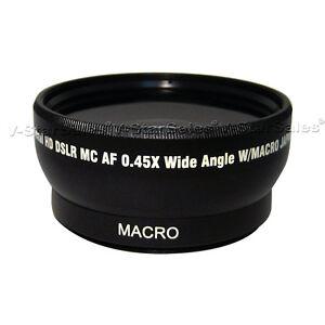 52mm 0.45X  Super Wide Angle Lens for Nikon 18-55mm 55-200mm 50mm 1.4 50mm 1.8