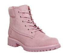 Womens Timberland Pink Leather Lace Up Ankle Boots Size UK 7 *Ex-Display