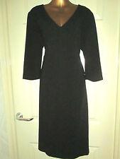 Kaleidoscope Black Smart Shift Dress  Size 14