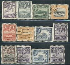 ANTIGUA 90-144 SG104-57 Used 1938-65 Collection of 12 Cat$6