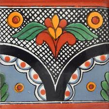 "Handmade Mexican Tile Sample Talavera Clay 4"" x 4"" Tile C261"