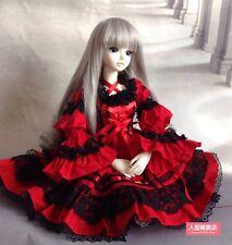 1/4 MSD DOD BJD evening dress skirt Suit Outfit lolita doll Dollfie LUTS  red