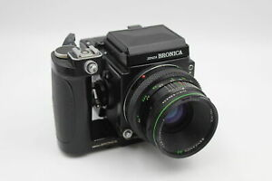 Zenza Bronica ETRS FILM CAMERA w/ Zenzanon EII 75mm Lens, Film Back & Viewfinder