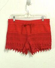 Boho Red Crochet Lace Shorts Juniors Size M 7-9