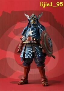 Meisho Manga Realization Marvel Samurai Captain America PVC Action Figure Boxed