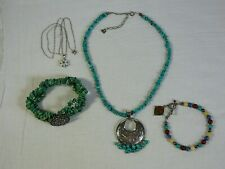 estate Sterling Jewelry Lot Carolyn Pollack Bracelet QT Quoc Turquoise CNA