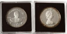 1980 Turks Caicos Large Silver Proof 20 crowns Lord Mountbatten