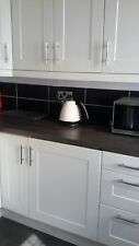 ADEL IKEA off-white kitchen doors and chrome handles
