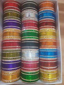New Indian Pakistani Kids Bangles  Multi Colours 12 Chudiya Chura For 1yrs Girls