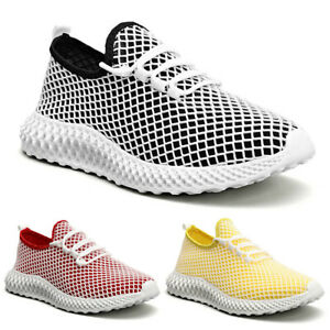 Men's Running Sneakers Fashion Lace Up Lightweight Athletic Walking Tennis Shoes
