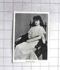 1904 Miss Kitty Gordon, Seated Pose