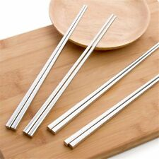 Kitchen Chinese Style Solid Color Stainless Steel Chopstick Table Ware