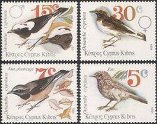 Cyprus 1991 Cyprus Wheatear/Birds/Nature/Wildlife/Conservation 4v (n30181)