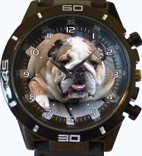 English Bulldog New Gt Series Sports Unisex Gift Wrist Watch