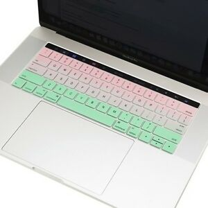 """PINK & GREEN Keyboard Skin for Macbook Pro 13"""" 15"""" With Touch Bar -RELEASE 2016"""
